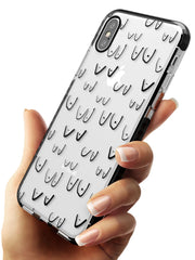 Boob Pattern (Black) Black Impact Phone Case for iPhone X XS Max XR