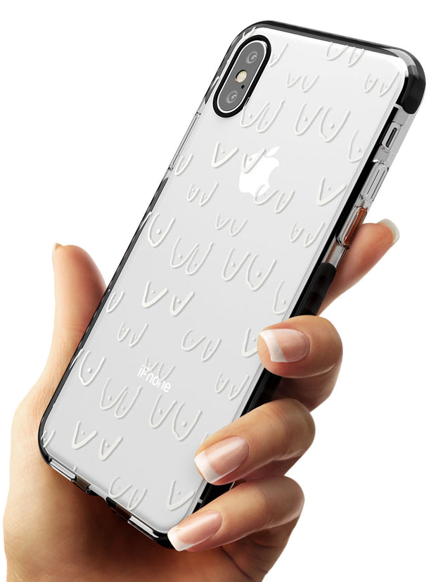 Boob Pattern (White) Black Impact Phone Case for iPhone X XS Max XR