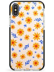 Cute Daisy Pattern - Solid iPhone Case Black Impact Phone Case Warehouse X XS Max XR