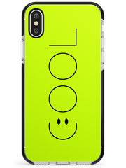 COOL Smiley Face Black Impact Phone Case for iPhone X XS Max XR