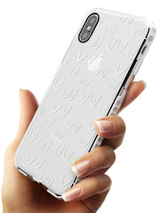 Boob Pattern (White) Impact Phone Case for iPhone X XS Max XR