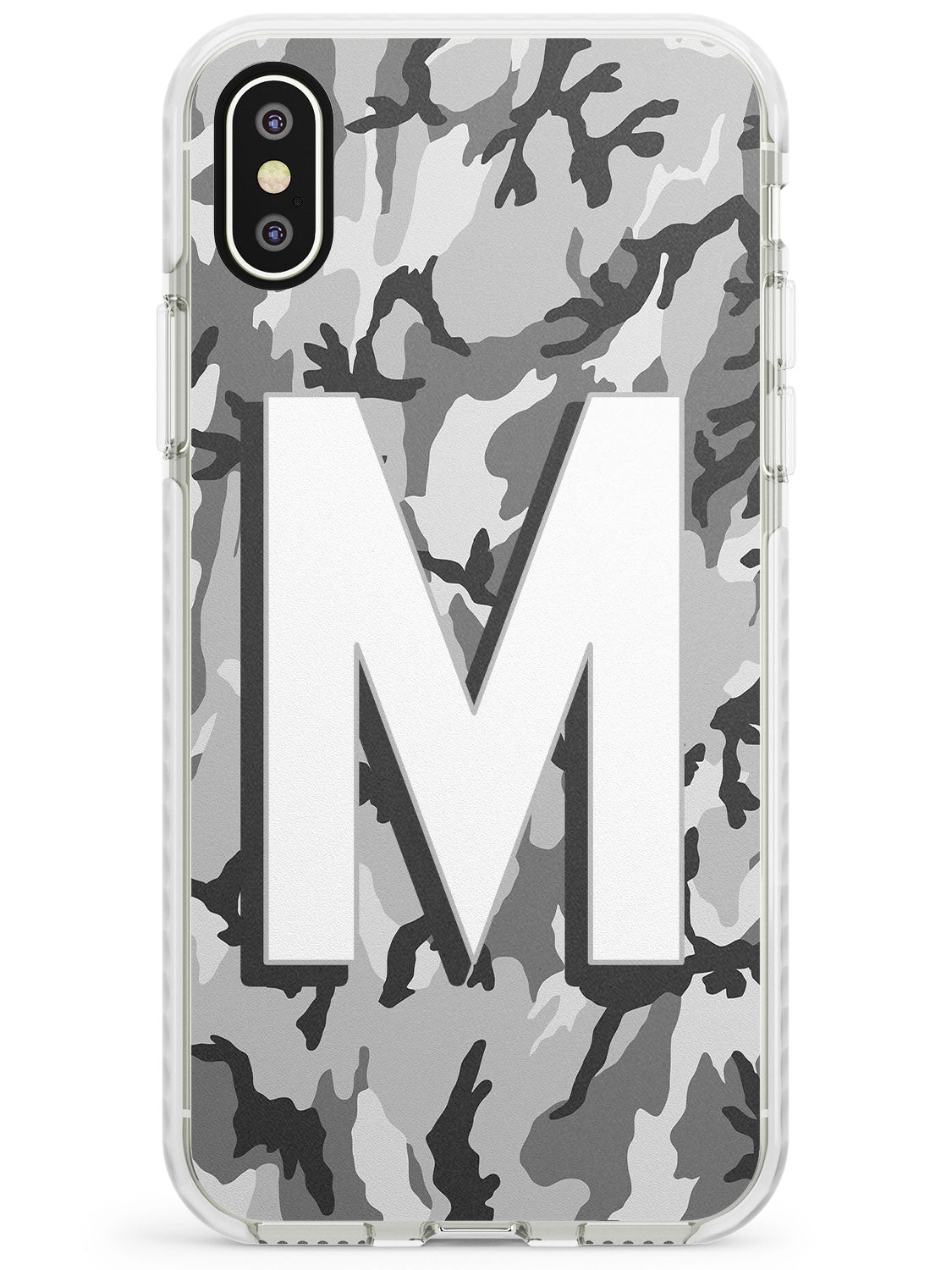 Light Grey Camo Solid Monogram iPhone Case by Case Warehouse ®