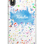Custom Rainbow Watercolour Paint Splatters iPhone Case by Case Warehouse ®