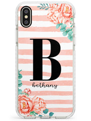 Pink Floral Stripes iPhone Case by Case Warehouse ®