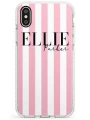 Pink Stripes iPhone Case by Case Warehouse ®