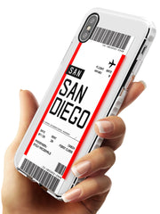 San Diego Boarding Pass iPhone Case   Custom Phone Case - Case Warehouse