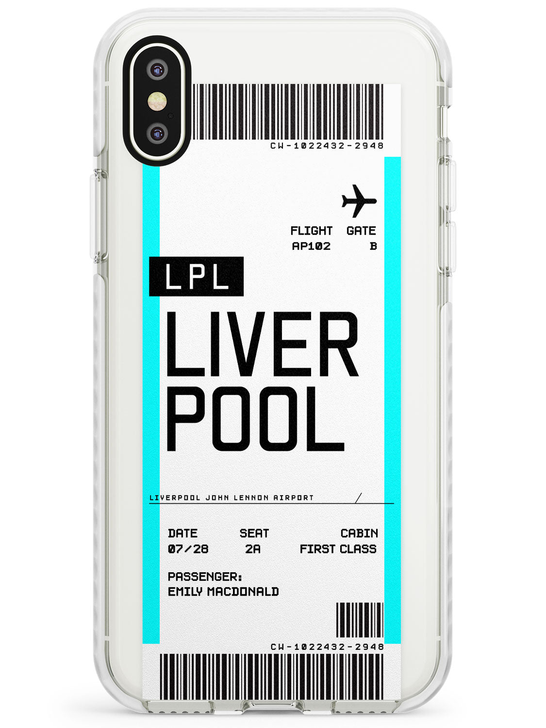 Liverpool Boarding Pass iPhone Case by Case Warehouse ®