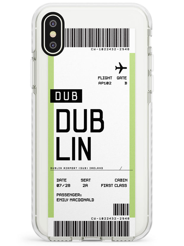 Dublin Boarding Pass iPhone Case  Impact Case Custom Phone Case - Case Warehouse