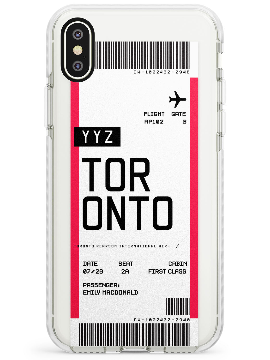 Toronto Boarding Pass iPhone Case by Case Warehouse ®
