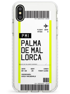 Palma De Mallorca Boarding Pass iPhone Case by Case Warehouse ®