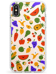 Mixed Kawaii Food Icons - Solid iPhone Case Impact Phone Case Warehouse X XS Max XR