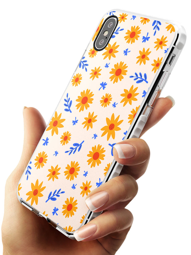 Cute Daisy Pattern - Solid iPhone Case Impact Phone Case Warehouse X XS Max XR