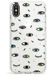Colorful Psychedelic Eyes  Impact Case Phone Case - Case Warehouse