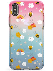 Busy Bee Pink Fade Impact Phone Case for iPhone X XS Max XR
