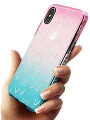 Boob Pattern (White) Pink Fade Impact Phone Case for iPhone X XS Max XR