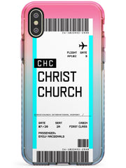 Christchurch Boarding Pass iPhone Case  Pink Fade Impact Custom Phone Case - Case Warehouse