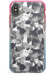 Dark Grey Cat Camouflage Pattern iPhone Case  Pink Fade Impact Phone Case - Case Warehouse
