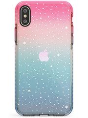 Celestial Starry Sky White Pink Fade Impact Phone Case for iPhone X XS Max XR