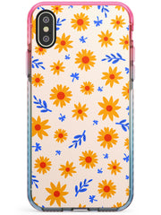 Cute Daisy Pattern - Solid iPhone Case Pink Fade Impact Phone Case Warehouse X XS Max XR
