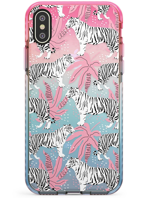 Tigers Within Pink Fade Impact Phone Case for iPhone X XS Max XR