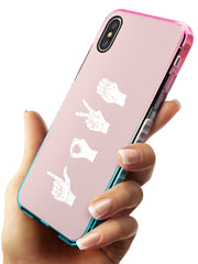 LOVE Sing Language Pink Fade Impact Phone Case for iPhone X XS Max XR