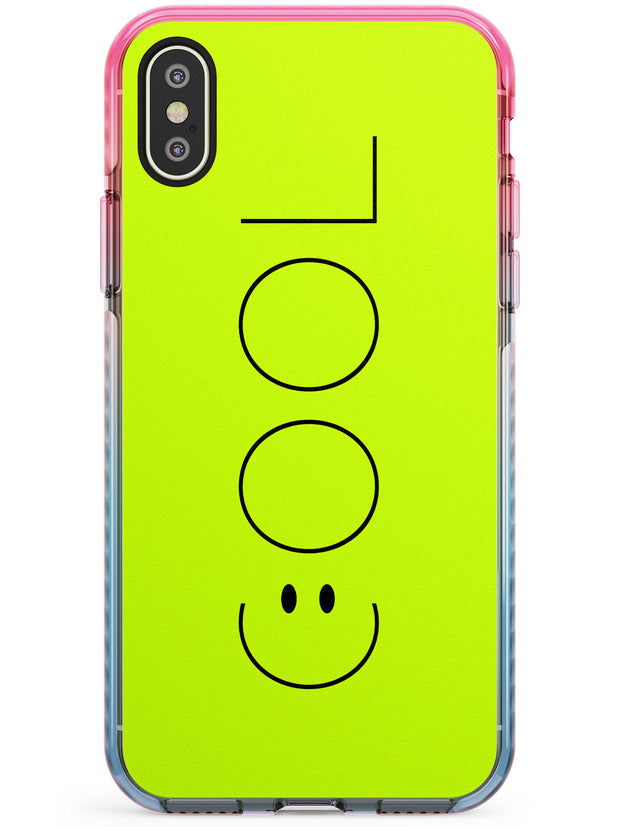 COOL Smiley Face Pink Fade Impact Phone Case for iPhone X XS Max XR