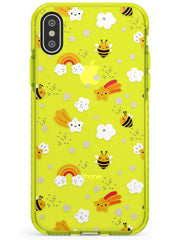 Busy Bee Neon Yellow Impact Phone Case for iPhone X XS Max XR