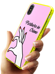 Partners in Crime Matching Cases: Right Side Neon Yellow Impact Phone Case for iPhone X XS Max XR
