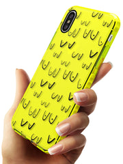 Boob Pattern (Black) Neon Yellow Impact Phone Case for iPhone X XS Max XR