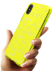 Boob Pattern (White) Neon Yellow Impact Phone Case for iPhone X XS Max XR