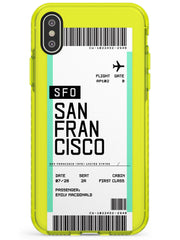 San Francisco Boarding Pass iPhone Case  Neon Impact Custom Phone Case - Case Warehouse