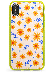 Cute Daisy Pattern - Solid iPhone Case Neon Yellow Impact Phone Case Warehouse X XS Max XR