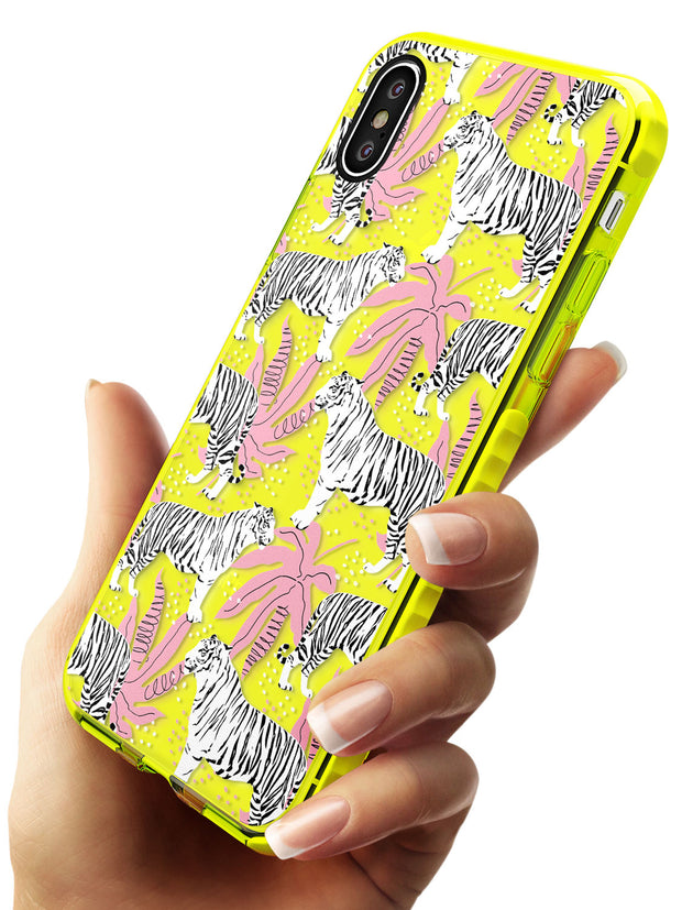 Tigers Within Neon Yellow Impact Phone Case for iPhone X XS Max XR