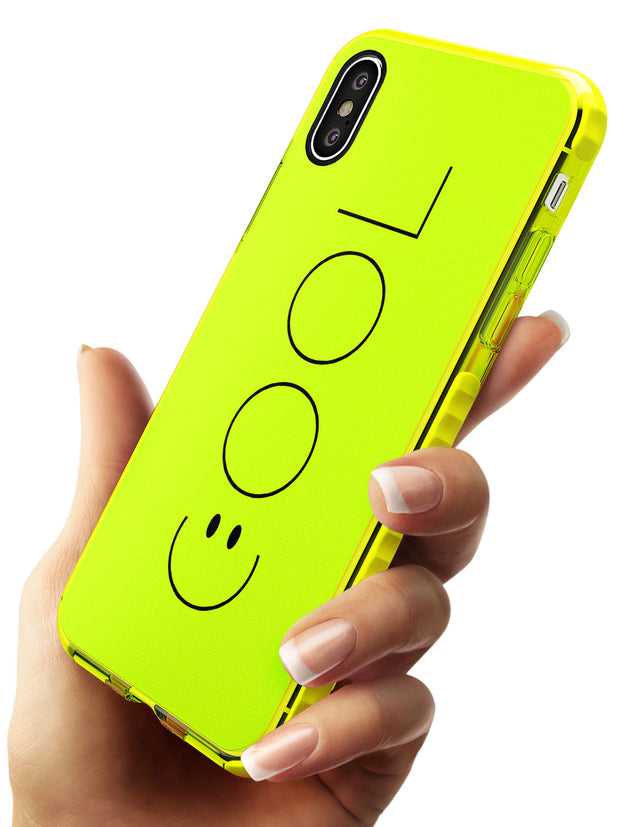 COOL Smiley Face Neon Yellow Impact Phone Case for iPhone X XS Max XR