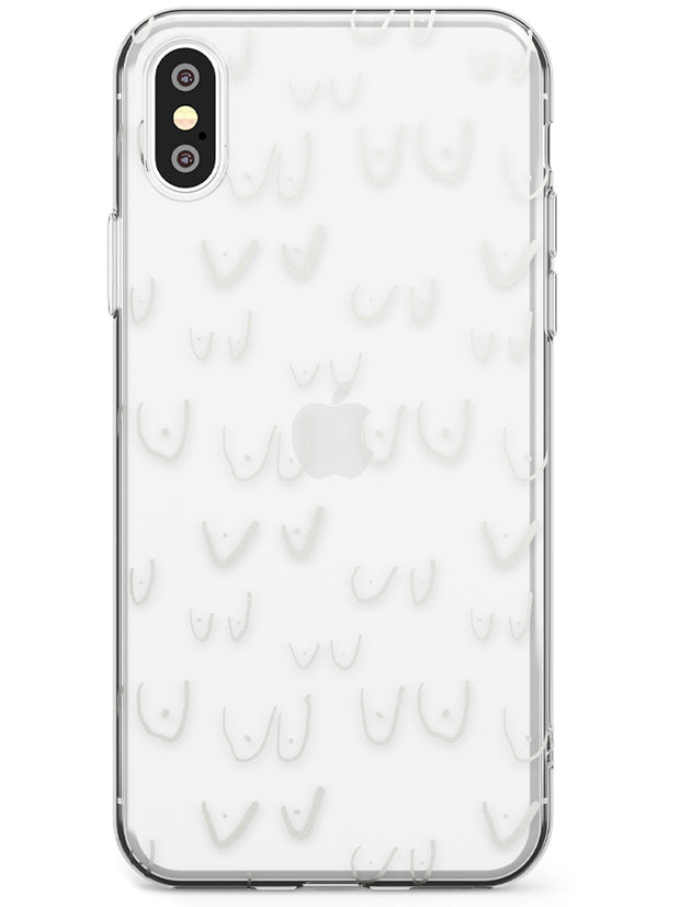 Boob Pattern (White) Slim TPU Phone Case Warehouse X XS Max XR
