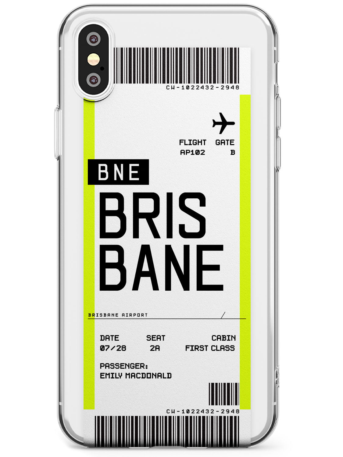 Brisbane Boarding Pass iPhone Case by Case Warehouse ®