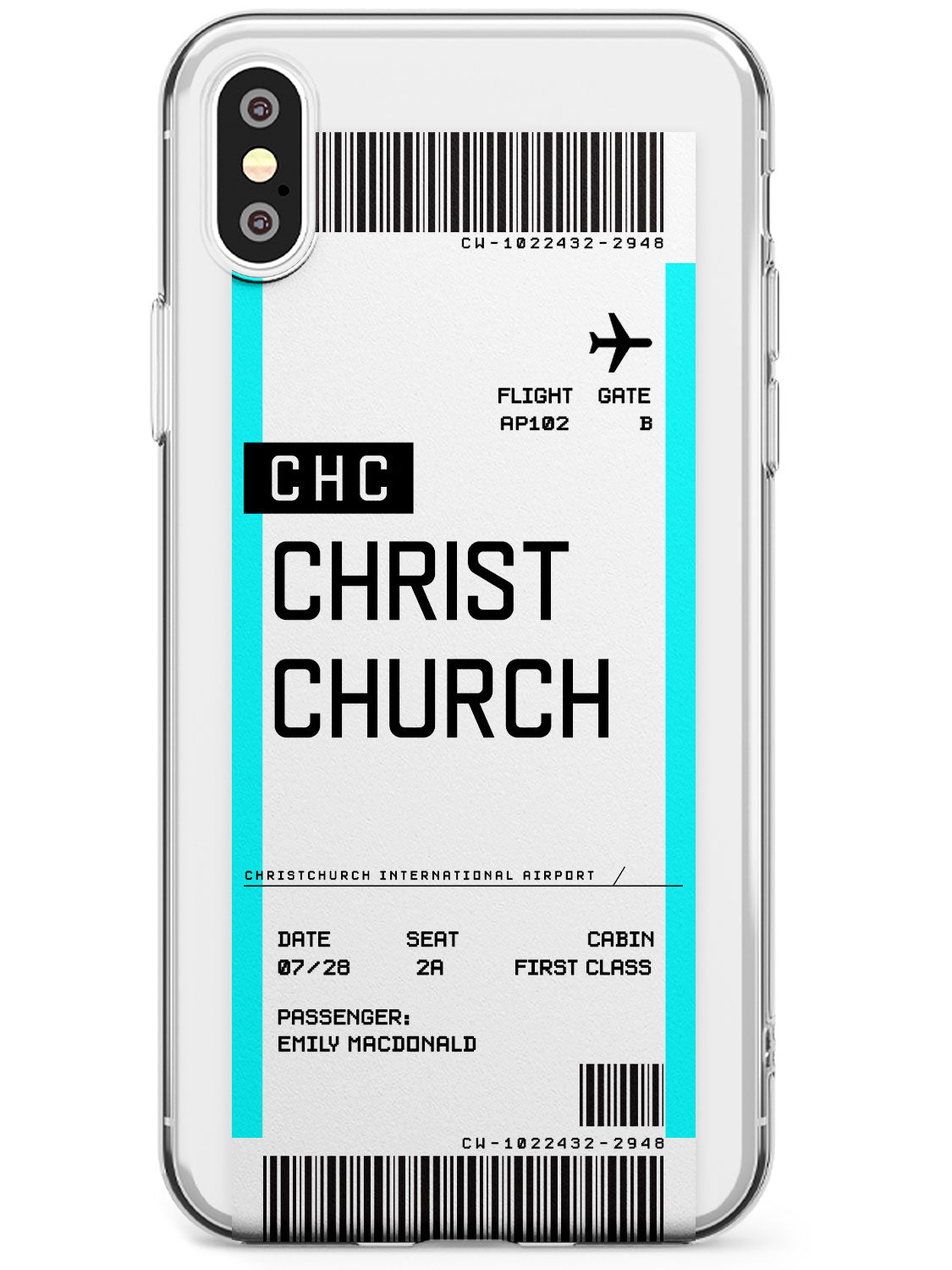 Christchurch Boarding Pass iPhone Case by Case Warehouse ®
