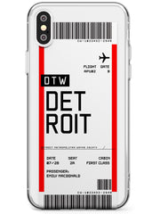 Detroit Boarding Pass iPhone Case by Case Warehouse ®