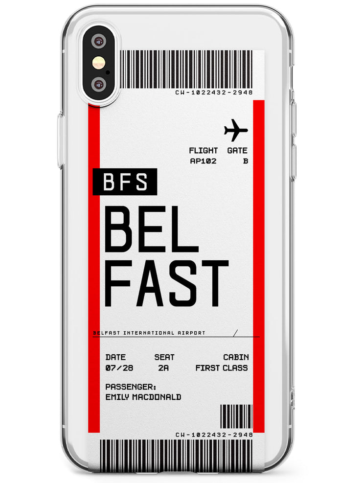 Belfast Boarding Pass iPhone Case by Case Warehouse ®