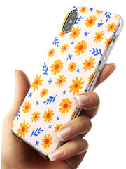 Cute Daisy Pattern - Solid iPhone Case Slim TPU Phone Case Warehouse X XS Max XR