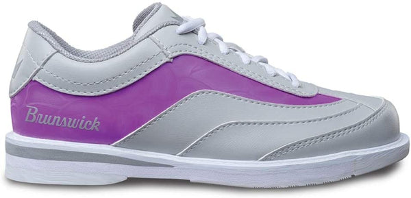 Brunswick Intrigue Grey/Purple Women's Right Hand Bowling Shoes