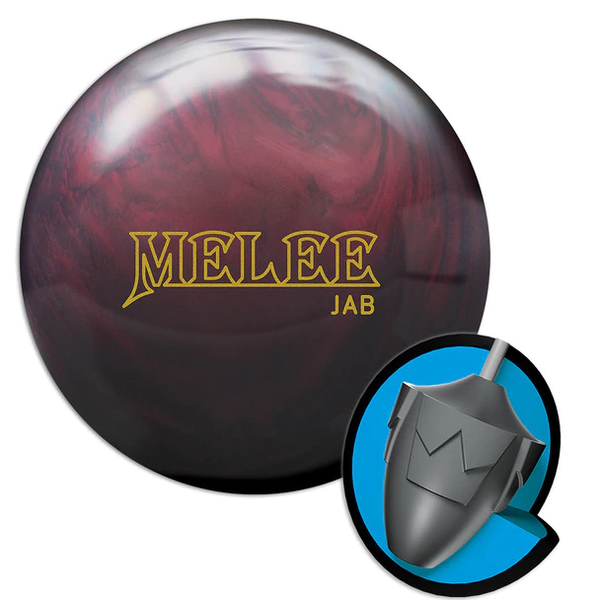 Brunswick Melee Jab Blood Red Bowling Ball