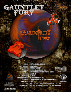 Hammer Gauntlet Fury Bowling Ball
