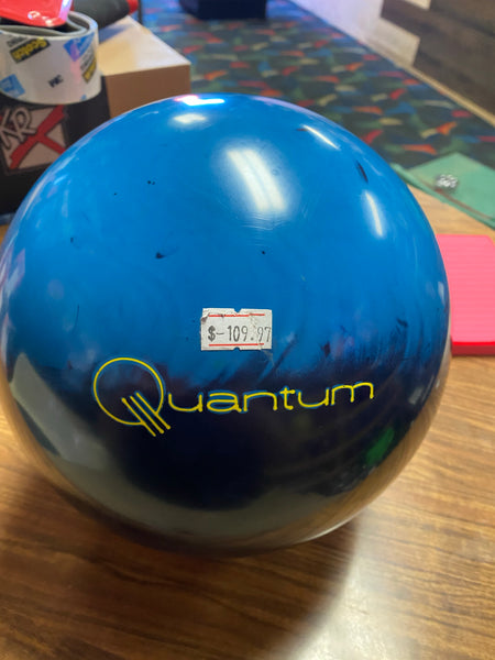 USED Brunswick Slate Blue Quantum Bowling Ball