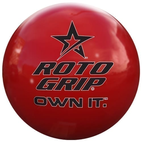 "Roto Grip ""Own It"" Red Clear Poly Bowling Ball"