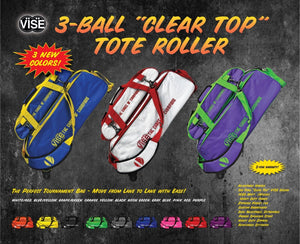 "VISE 3 Ball ""Clear Top"" Tote"