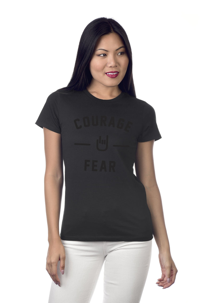 Courage Over Fear - Femmes from fitting premium tee.