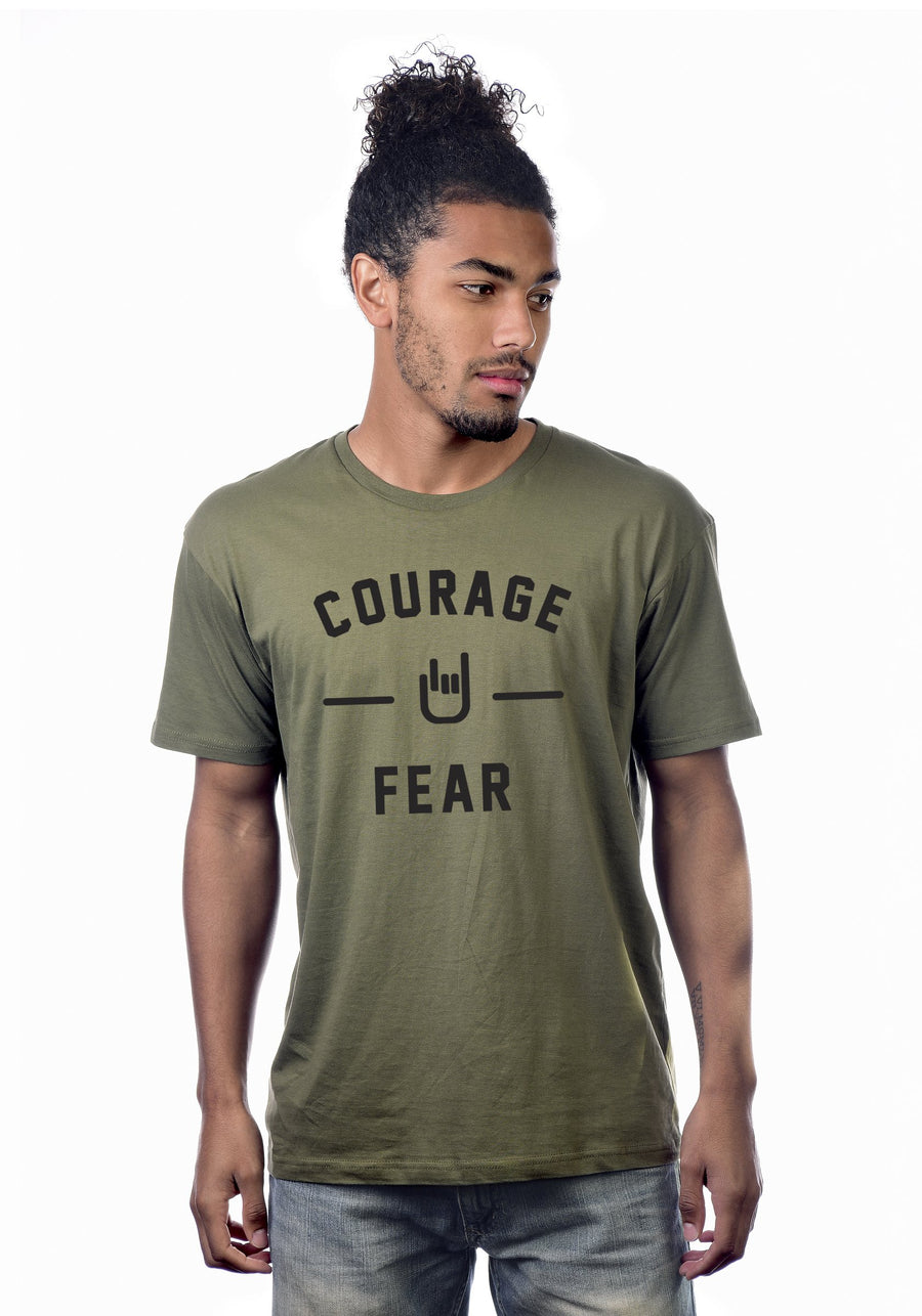 Courage Over Fear T. Minimalist design, maximum message.