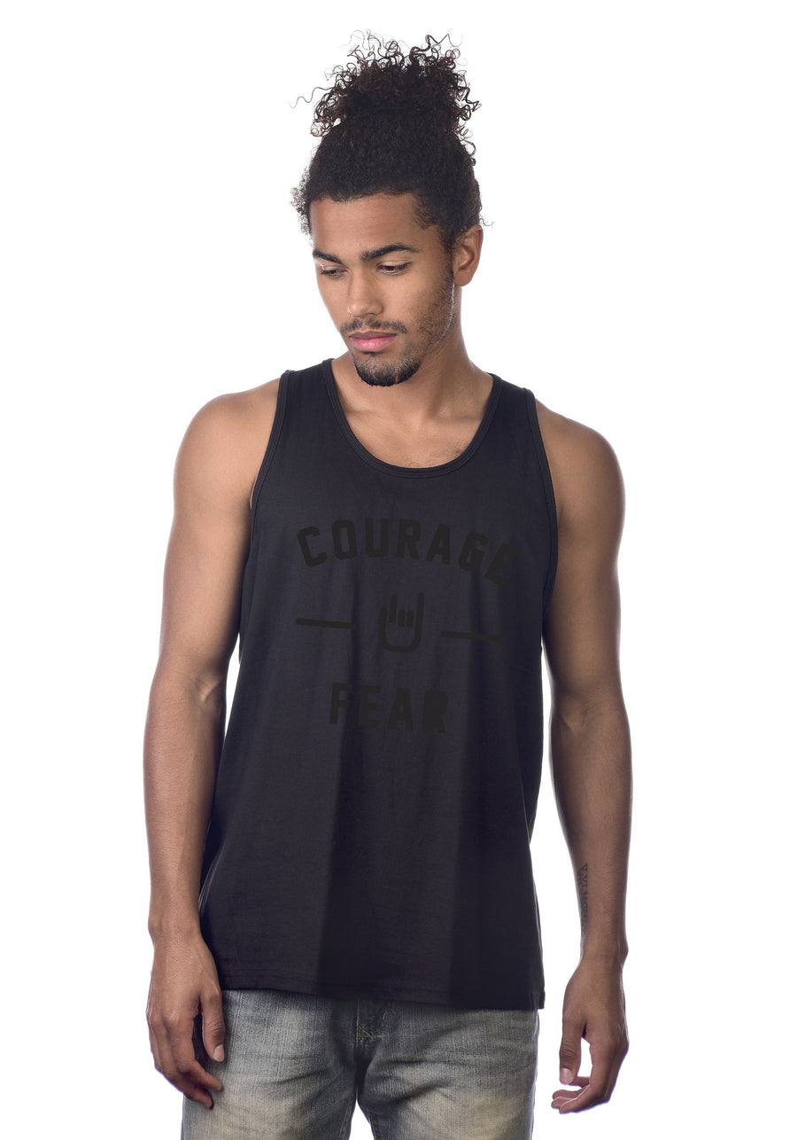 Courage Over Fear Tank. Minimalist design, maximum message.