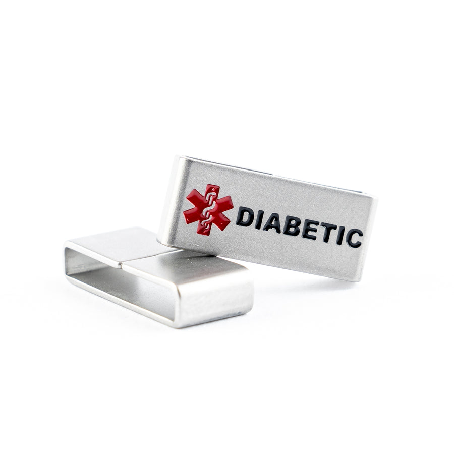 For all those living with Diabetes, this medical tag is for you. No one should have to choose between style and safety.